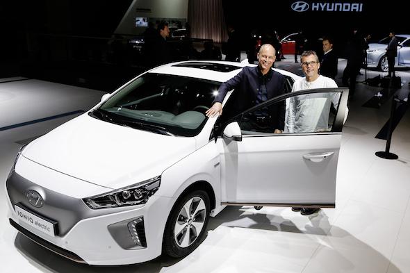 Fabrice Peltier - Bertrand Picard  Hyundai - Ionic