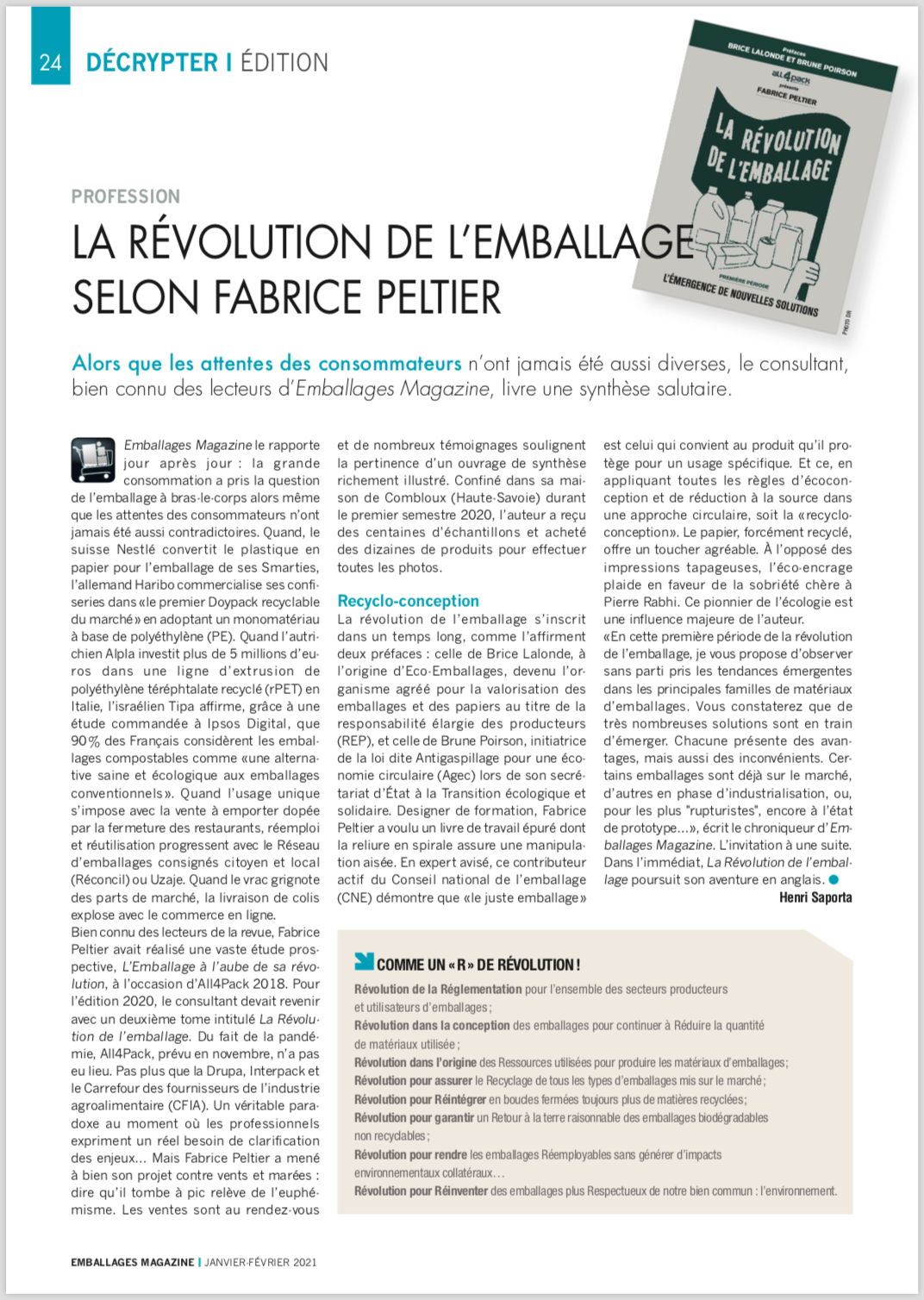 La révolution de l'emballage - Fabrice Peltier