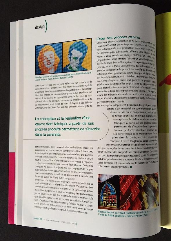 Fabrice Peltier - Art et Industrie - la Revue des Marques