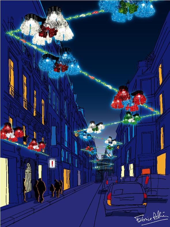 Fabrice Peltier - éco design - Décoration de Noël recyclées - Paris