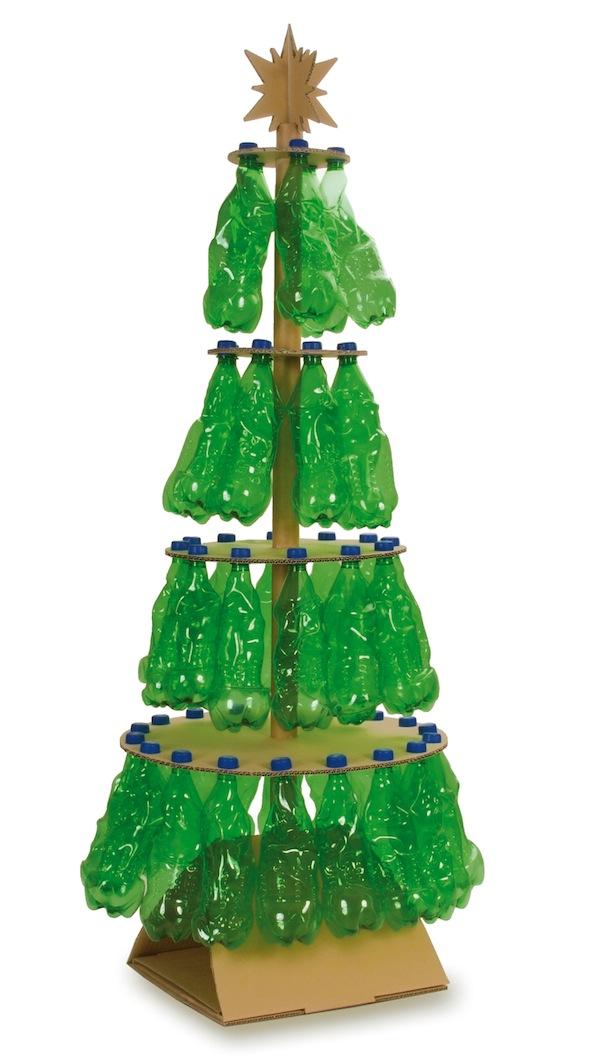 Sapin noel avec bouteille plastique