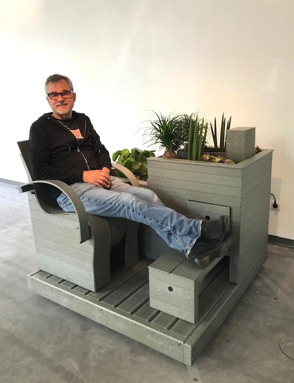 Fabrice Peltier - éco design - Mon coin jardin recyclé