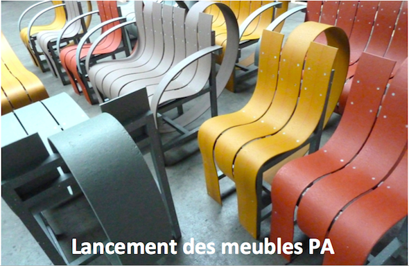 Fabrice Peltier - éco design - Meubles recyclés en PolyAlFabrice Peltier - Eco design - Meubles PolyAl - Tetra Pak