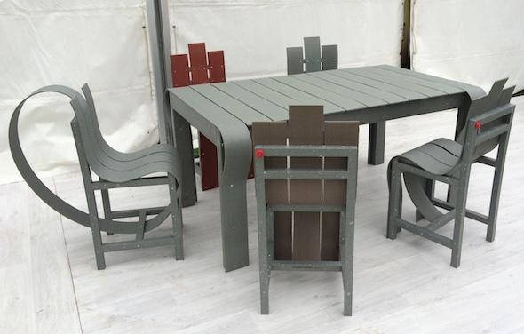 Fabrice Peltier - éco design - Meubles recyclés en PolyAl