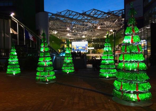 Fabrice Peltier - éco design - Sapins recyclés -Cergy Pontoise
