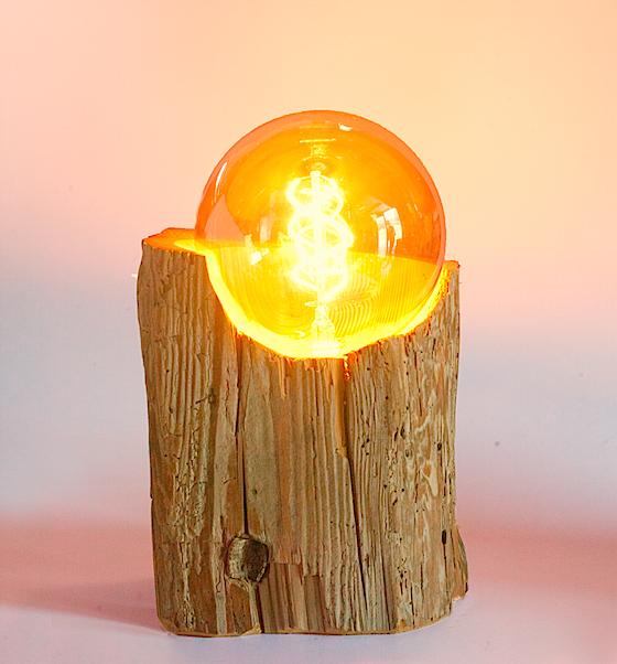 Lampes UnicDesign by Fabrice Peltier - Poutre vieux bois- Eco design