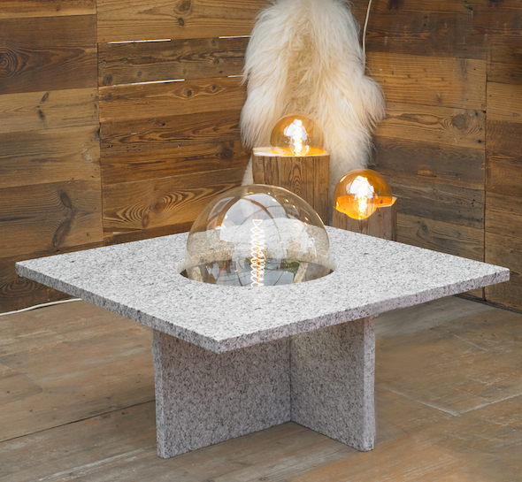 Tables UnicDesign by Fabrice Peltier - Granit du Mont Blanc - Eco design